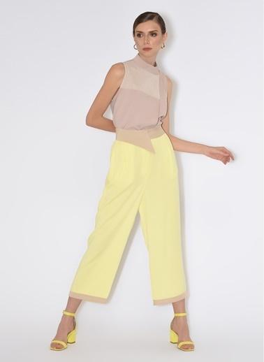 Tuba Ergin Geniş Paça Pantolon Sarı